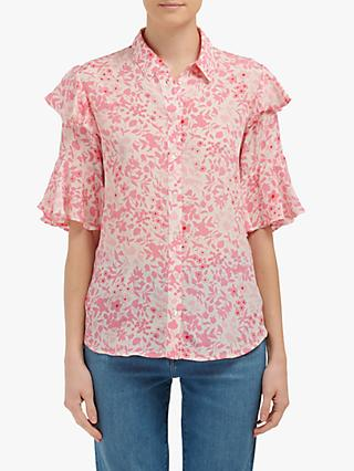 Lily and Lionel Frankie Floral Print Blouse, Pink