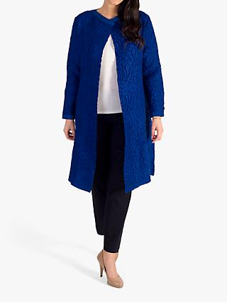 chesca Suedette Crush Flared Coat