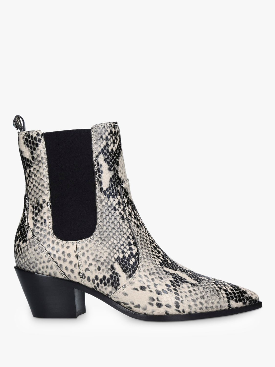 Paige Paige Willa Snake Print Ankle Boots, Natural