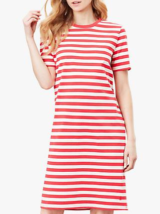 Joules Liberty Jersey Dress, Poppy Stripe