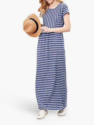 Joules Trudy Stripe Maxi Dress, Blue Stripe