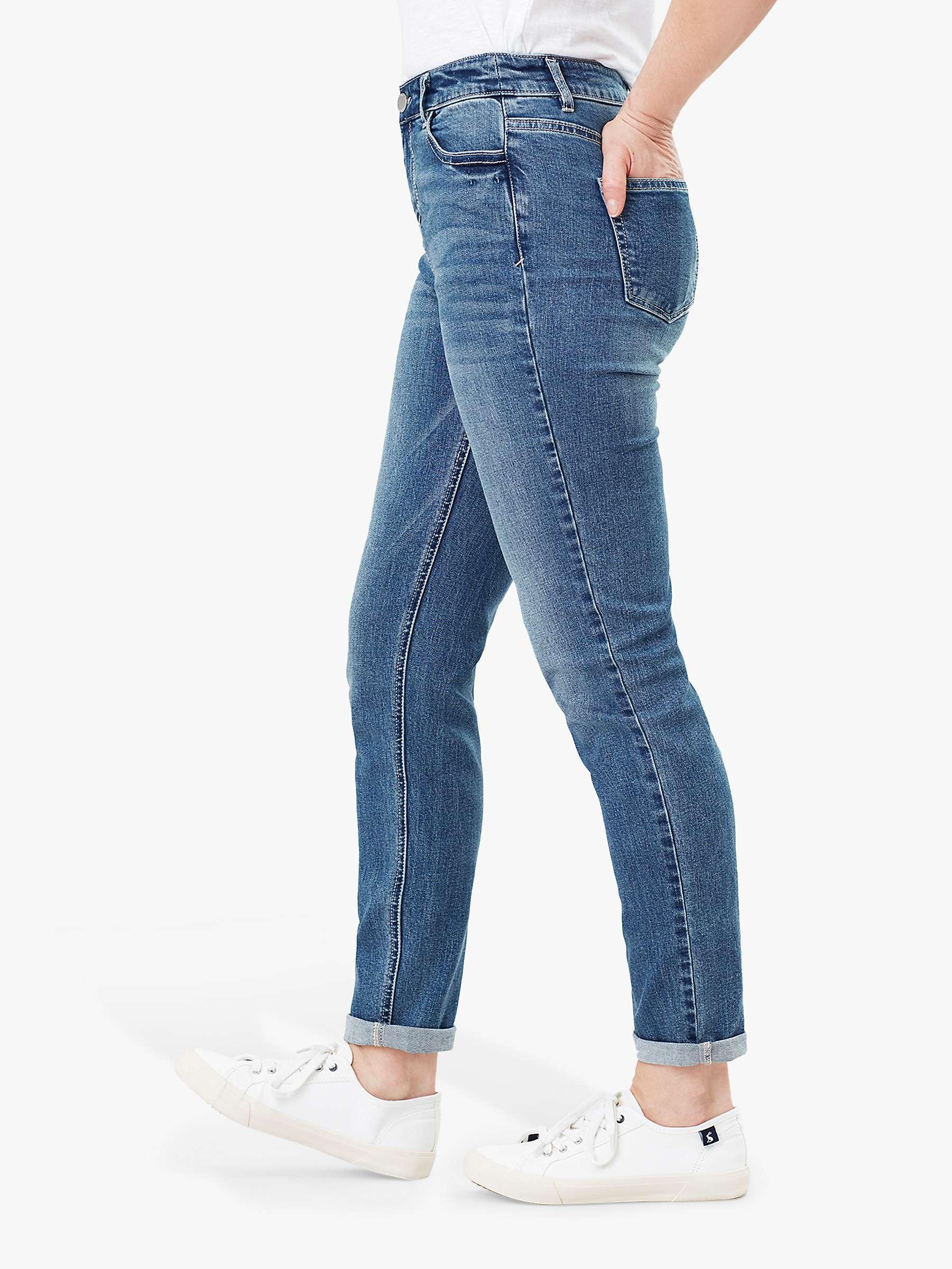 Joules Mens Five Pocket Jeans in Washed Denim Size 30