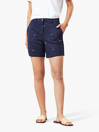 Joules Cruise Bee Embellished Chino Shorts, Navy