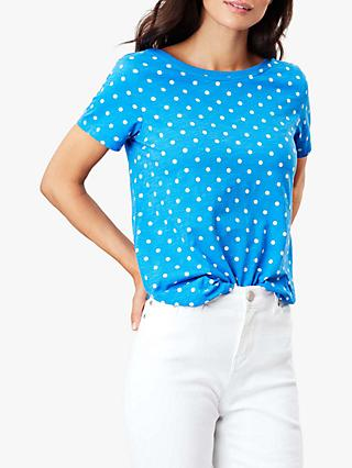 Joules Alverton Spotted T-Shirt, Blue