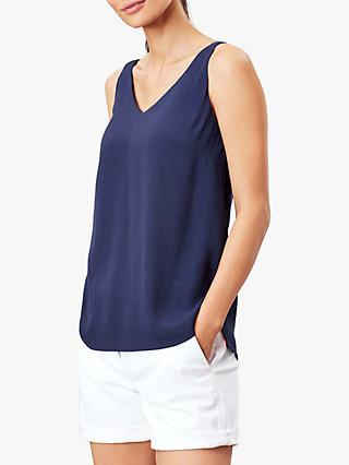 Joules Kyra V Neck Camisole, French Navy