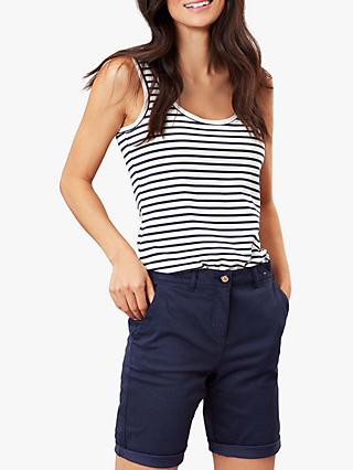 Joules Annika Striped Jersey Vest, Cream/Navy