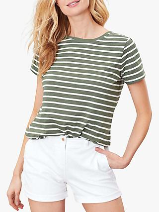 Joules Alverton Striped T-Shirt, Khaki