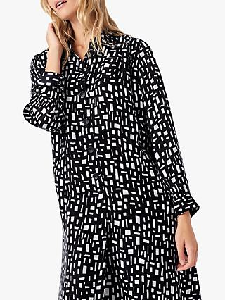 Brora Graphic Print Tunic Dress, Monochrome