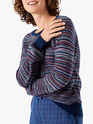 Brora Cashmere Purl Stitch Jumper, French Navy