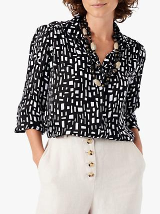 Brora Graphic Print Shirt, Monochrome