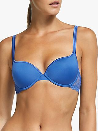 John Lewis & Partners Eleanor T-Shirt Bra, Blue