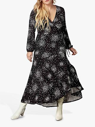 Live Unlimited Clustered Spot Dress, Black