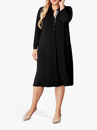 Live Unlimited Patch Pocket Dress, Black