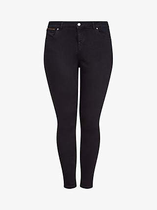 Live Unlimited Zip Detail Jeans, Black
