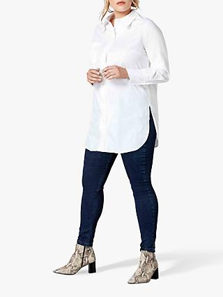Live Unlimited Curve Cotton Shirt, White