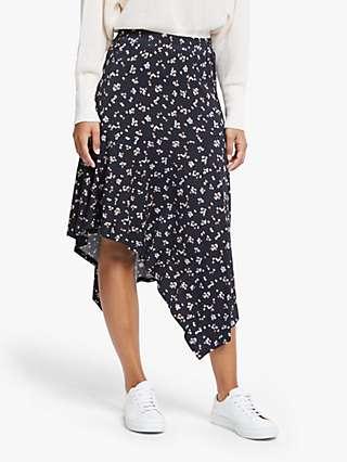 Just Female Elma Floral Jersey Skirt, Pastel