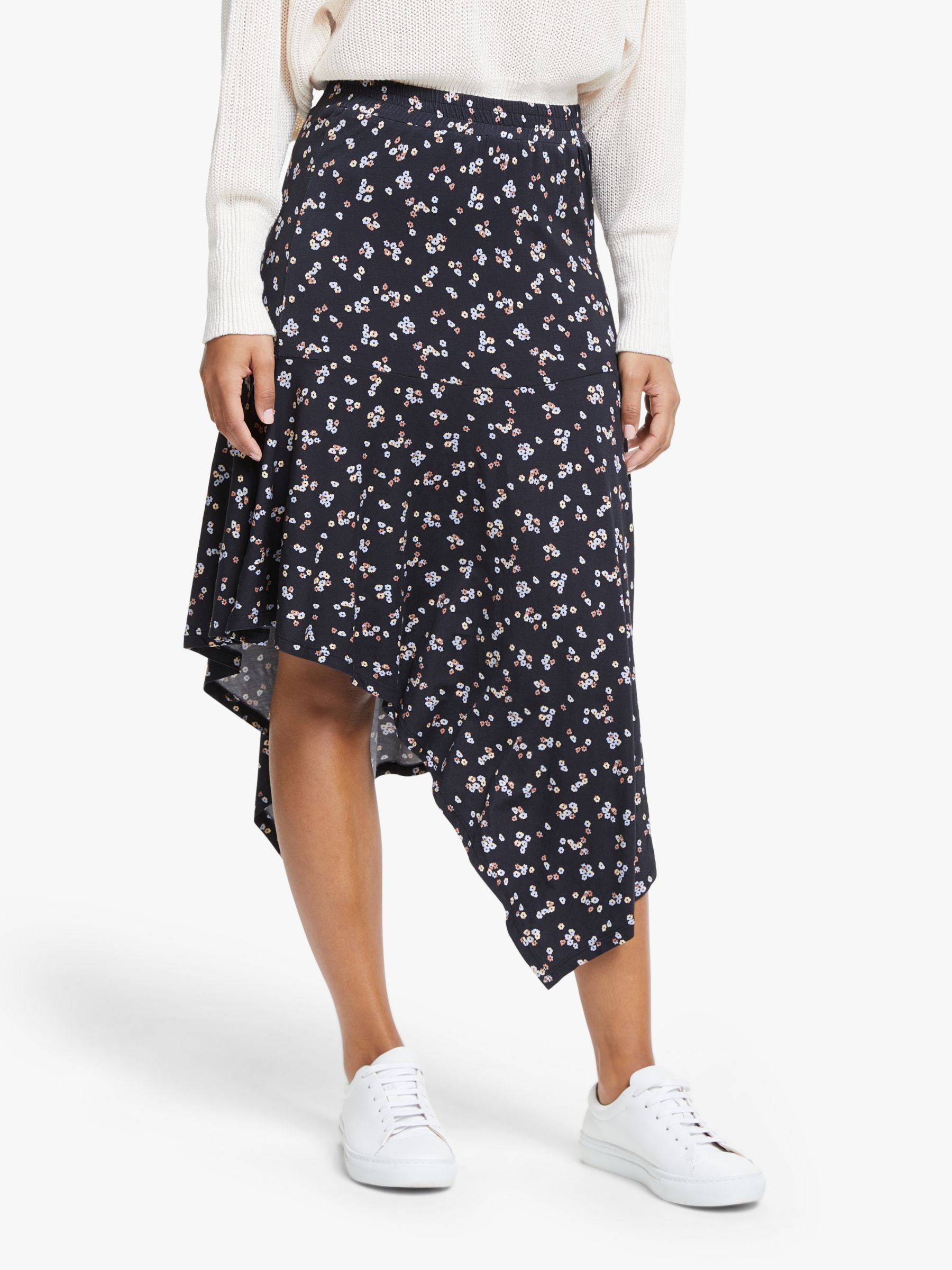 Just Female Just Female Elma Floral Jersey Skirt, Pastel