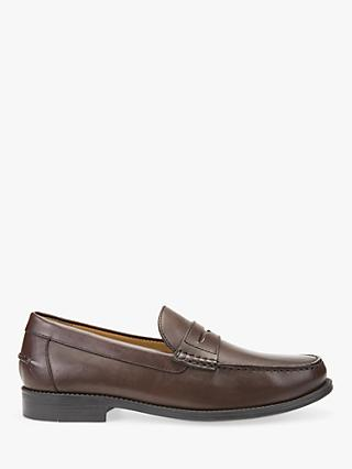 Geox New Damon Loafers, Dark Brown