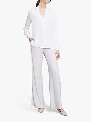 Winser London Stella Silk Blouse, Ivory