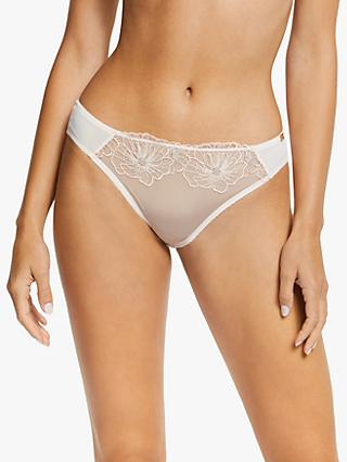 AND/OR Uma Outline Floral Embroidered Briefs, Pink