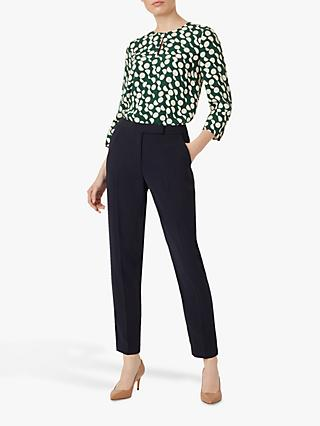Hobbs Maya Slim Trousers, Navy