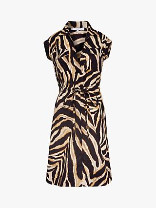 Gerard Darel Sole Cotton Animal Print Dress, Brown