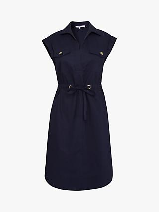 Gerard Darel Cotton Shirt Dress, Navy