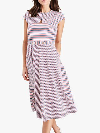 Damsel in a Dress Tilly Stripe Midi Dress, Multi-Coloured