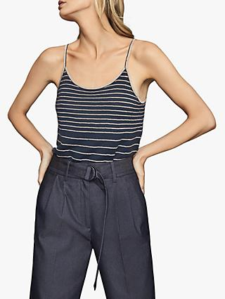 Reiss Maddy Metallic Stripe Cami Top