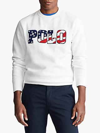 Polo Ralph Lauren Polo Flag Sweatshirt, White