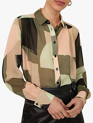 Warehouse Geo Classic Shirt, Green
