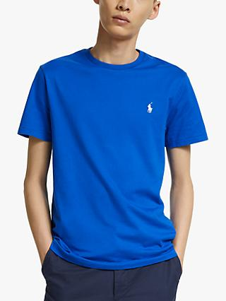 Polo Ralph Lauren Washed Cotton Crew Neck T-Shirt, Pacific Royal