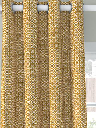 John Lewis & Partners Rona Pair Lined Eyelet Curtains