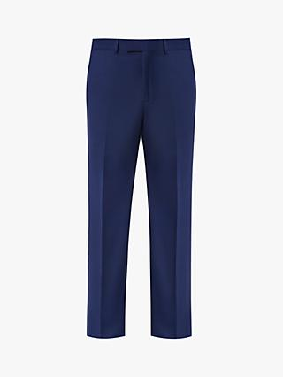Jaeger Wool Semi Plain Suit Trousers, Blue