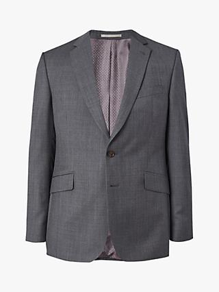 Jaeger Wool Regular Fit Texture Suit Jacket, Grey
