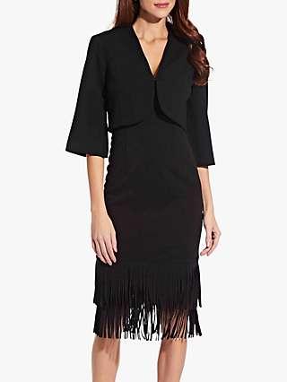 Adrianna Papell Split Sleeve Bolero, Black