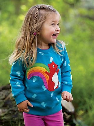 Frugi Children's Organic Cotton Squirrel Jumper, Blue