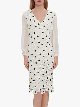 Gina Bacconi Rexelle Floral Embroidery Dress