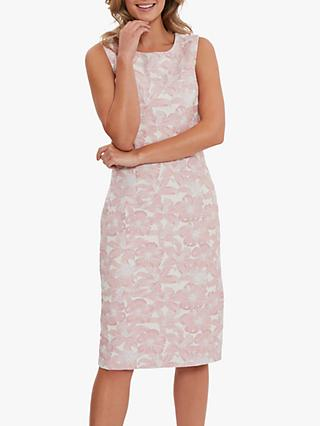 Gina Bacconi Gretel Jacquard Shift Dress, Pink