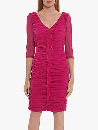 Gina Bacconi Cherry Frill Dress, Cerise