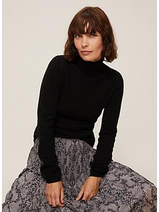 John Lewis & Partners Cashmere Roll Neck Jumper