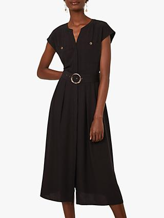 Warehouse Ring Belted Midi Dress