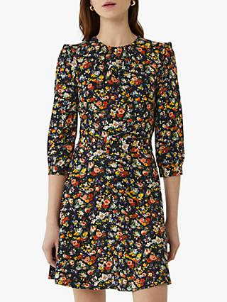 Oasis Belted Floral Skater Dress, Multi