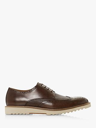 Dune Badgers Leather Vamp Brogues, Brown