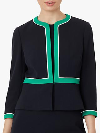 Hobbs Nala Jacket, Navy/Green/Ivory