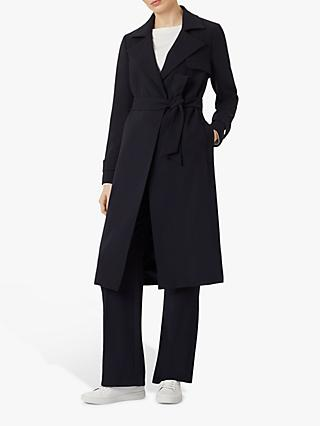 Hobbs Serena Trench Coat, Navy