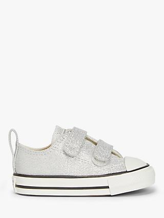 Converse Junior Summer Sparkle Chuck Taylor All Star Low Top Trainers, Photon Dust/Natural Ivory