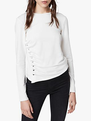 AllSaints Hatti Long Sleeve T-Shirt, Chalk White