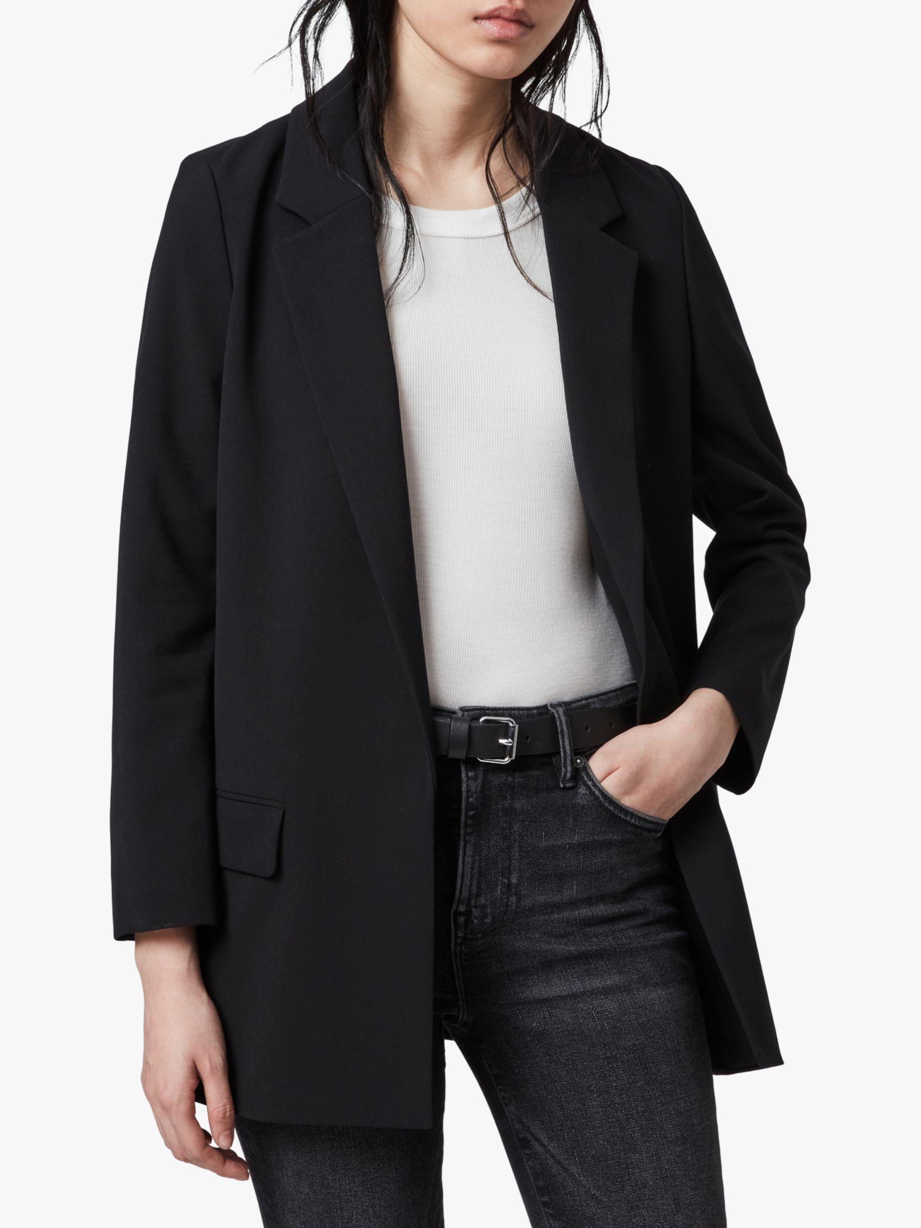 AllSaints AllSaints Aleidatri Single Breasted Long Line Blazer, Black