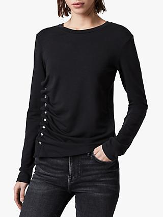 AllSaints Hatti Long Sleeve T-Shirt, Black